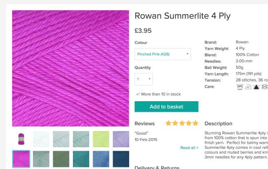 Rowan Pinched Pink Loveknitting
