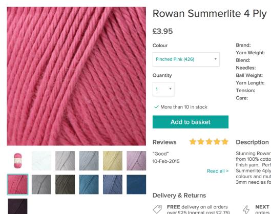 Loveknitting Rowan summerlite