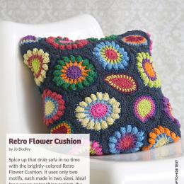 Retro Flower Cushion