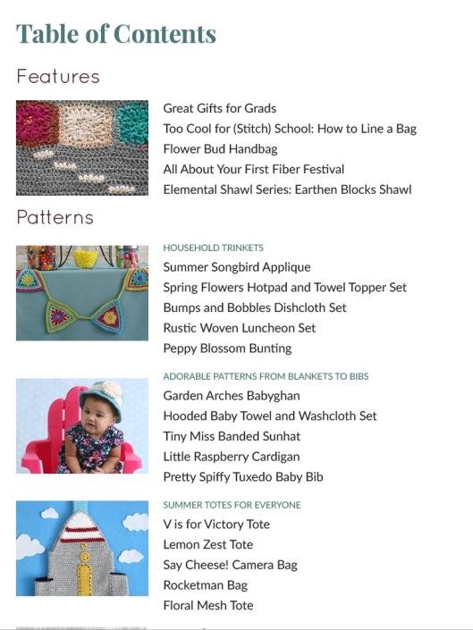 table of contents june i like crochet magazine