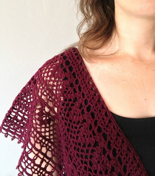 japanese v-neck crochet top
