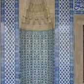 Mihrab in Rüstem Pasha Mosque. Photo credit: DSC04142 Istanbul - R stem Pasha camii - Foto G. Dall'Orto 26-5-2006.