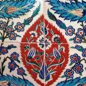 Tile detail. Turkey 1580. Exhibited at the V&A Museum, London