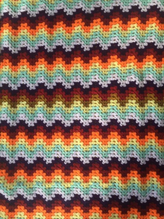 Granny ripple blanket