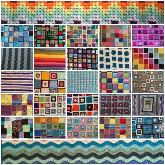Crochet For Kidneys 4 blankets collage