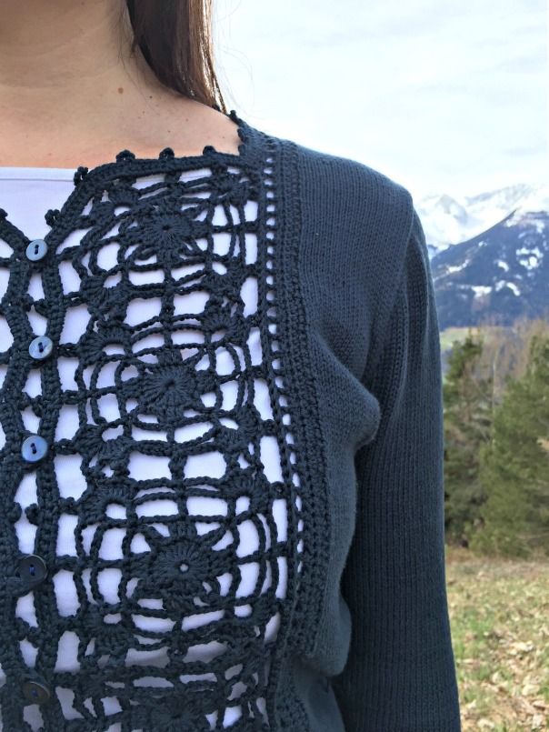 Buttercup cardigan front detail